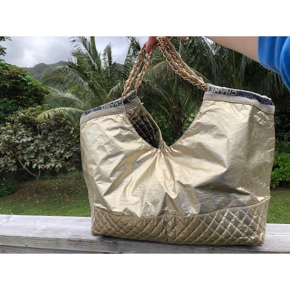 95ec67f035ac8 CHANEL Bags | Xl Metallic Gold Coco Cabas Handbag | Poshmark
